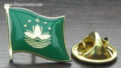 Macau Flag Lapel Hat Cap Tie Pin Badge Macao People's Republic of China Macanese